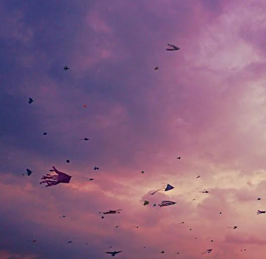 kites sunset