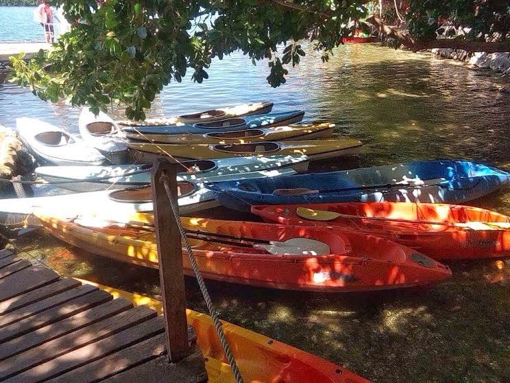 Kayaking at Lake Danao