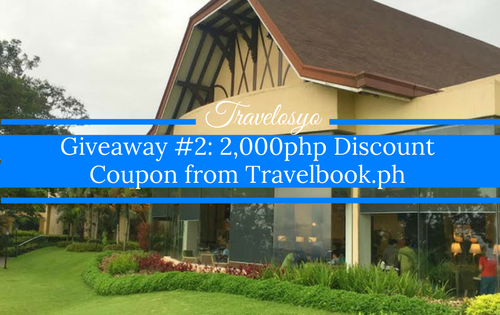 Giveaway #2: 2,000php Discount Coupon from Travelbook.ph