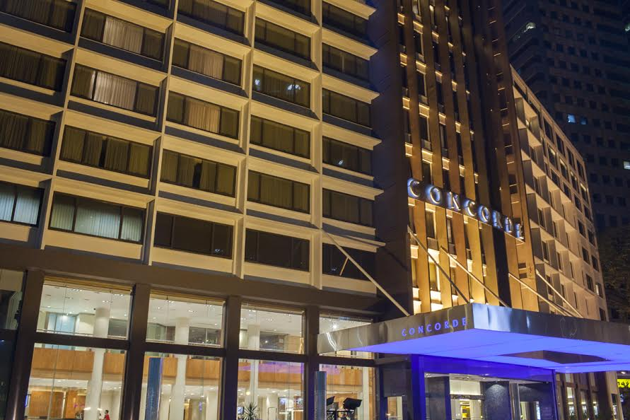 concorde hotel facade